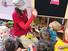 2-Year-Old Room - playing with teacher