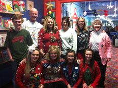 Staff Christmas Sweater Party